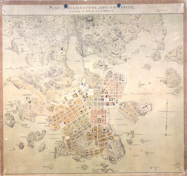 Kartta Helsinki 1876