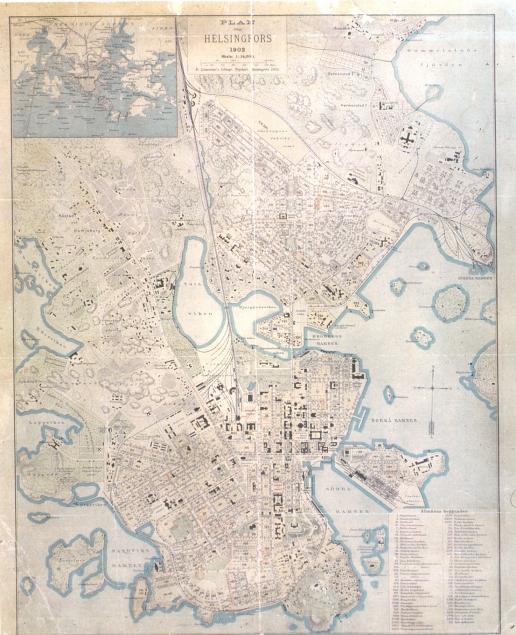 Kartta Helsinki 1902