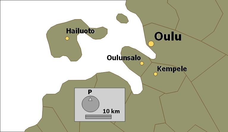 Kartta Oulun Seutu