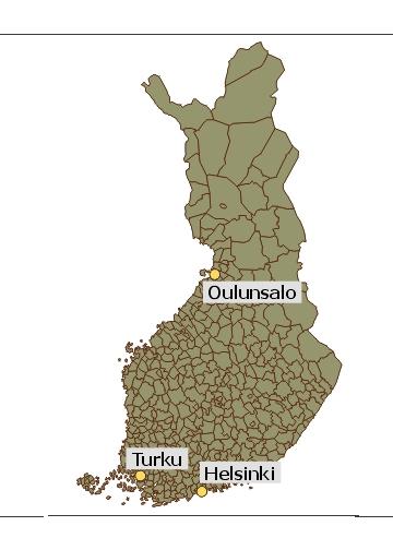 Suomen kartta kunnat