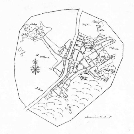 Kartta Turun Keskiaikaisia Kadunnimia