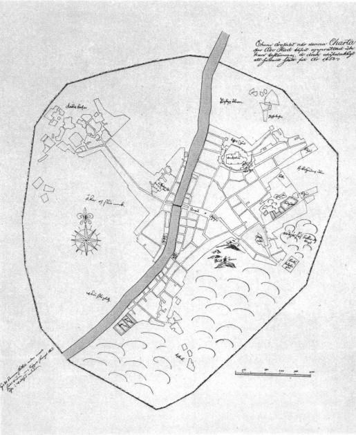 Kartta Turku 1630 Luvulla