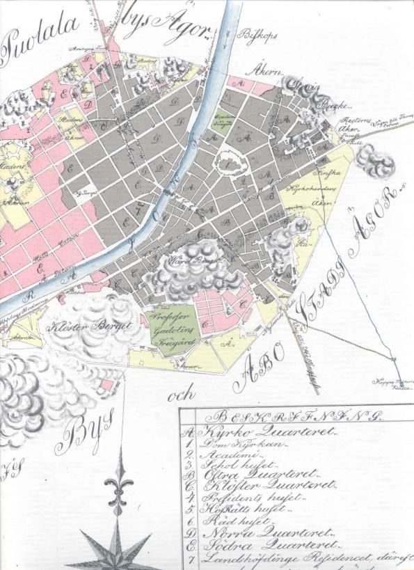 Kartta Turku 1808